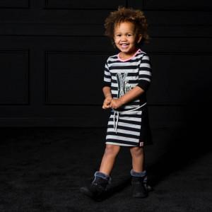 bnosy-bnosy-meisjes-jurk-stripe-grey-melee-black